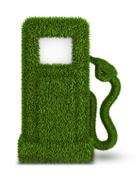 Green grass  fuel pump out Stock Illustration