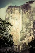 Angel falls ( salto angel ) is worlds highest waterfalls (978 m), venezuela Stock Photos