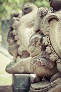 borobudur temple near yogyakarta on java island, indonesia - stock photo