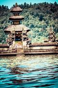 Pura ulun danu temple on a lake beratan. bali Stock Photos