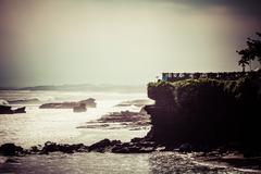 Stock Photo of world famous pura tanah lot - or temple of the land in the sea, bali