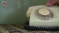 Retro telephone dialing - stock footage