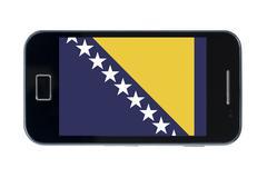 smartphone national flag of bosnia herzegovina - stock photo