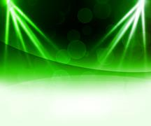 Green laser abstract background Stock Illustration