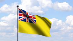Animated Flag of Niue Stock Footage