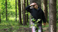 Boy lost in the woods  episode 1 Stock Footage