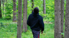Boy lost in the woods  episode 3 Stock Footage