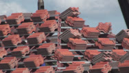 Preparation for roof tiles Stock Footage