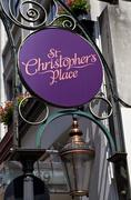 St. Christopher's Place in London Stock Photos