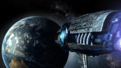 Futuristic spaceship - stock footage