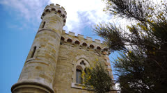 Tower of Magdala Rennes le Chateau, France Stock Footage