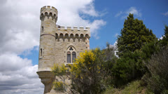 Tower of Rennes le Chateau, France Stock Footage