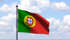 Animated Flag of Portugal - stock footage