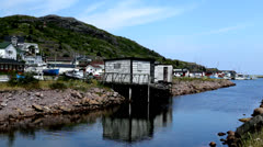 Petty Harbour Old Dock Stock Footage