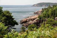 Acadian coastline Stock Photos
