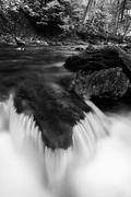 Small cascade in a stream at tacquan glen, in lancaster county, pennsylvania Stock Photos