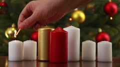 Christams candle set HD3 - stock footage