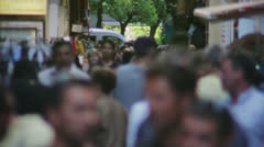 Crowd Walking through Narrow Market Street - 25FPS PAL Stock Footage