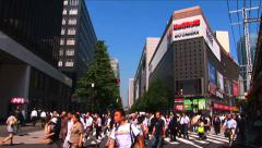 Tokyo, Japan - Pedestrian at intersection in Hibiya district -Timelapse 2 Stock Footage