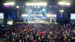 STAGE NIGHT TIME LAPSE 1° MAY 2013 Stock Footage