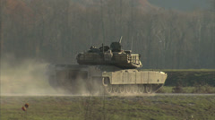 Military, Tank shooting and driving - stock footage