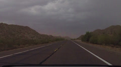 HD 30p Driving into the Haboob full on time lapse - eerie and dark Stock Footage