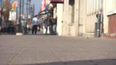 North Bay Ontario Downtown Sidewalk HD Video Stock Footage