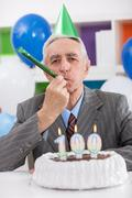 party for 100th birthday - stock photo
