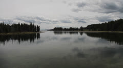 Outlet to Yellowstone Lake Stock Footage