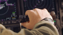 C-17 cockpit View Take off 01 Stock Footage