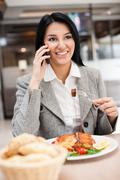 businesswomen on lunch - stock photo