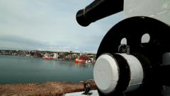 The Battery with St. John's in the Background Stock Footage