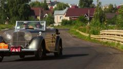 Rolls Royce Silver Ghost, Bentley, 4 1 4 vintage cars. 1920S, 1930s, 1940s - stock footage