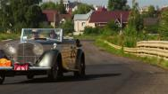 Stock Video Footage of Rolls Royce Silver Ghost, Bentley, 4 1 4 vintage cars. 1920S, 1930s, 1940s