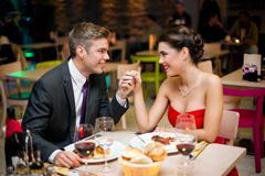 Stock Photo of romantic dinner