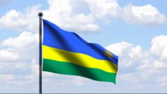 Animated Flag of Rwanda - stock footage