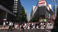 Tokyo, Japan - Timelapse 6 -Pedestrian at intersection in Hibiya district Stock Footage