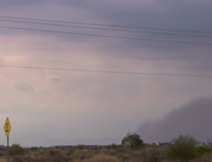 2K 24p tight - Haboob dust storm arrives in eastern Phoenix time lapse Stock Footage