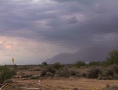 4K 24p wide - Haboob dust storm arrives in eastern Phoenix time lapse Stock Footage