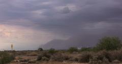 4K 30p wide - Haboob dust storm arrives in eastern Phoenix time lapse Stock Footage