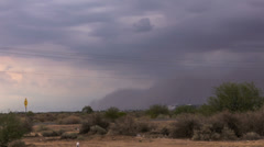 HD 24p wide Haboob dust storm arrives in eastern Phoenix time lapse Stock Footage