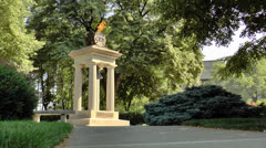 Memorial Eternal Flame.  Columbus, Ohio Stock Footage