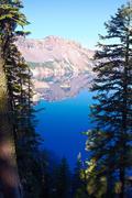 phantom ship, crater lake national park, oregon, united states - stock photo