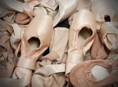 ballet shoes or slippers - stock photo