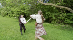 Sword Fight 03c HH Stock Footage