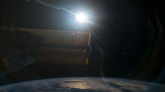 The Sun seen from the International Space Station in earth orbit Stock Footage