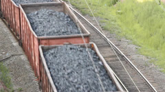 The railway. Transportation of coal by rail Stock Footage