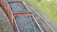 Stock Video Footage of The railway. Transportation of coal by rail