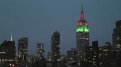Empire State Building sunrise time lapse - stock footage
