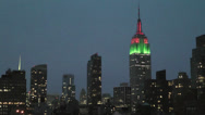 Stock Video Footage of Empire State Building sunrise time lapse